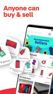 Androidアプリ「Carousell: Snap-Sell, Chat-Buy」のスクリーンショット 1枚目