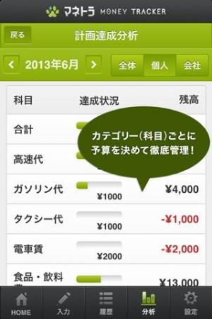 Androidアプリ「家計簿・経費精算統合アプリのマネトラ:無料で簡単管理」のスクリーンショット 5枚目
