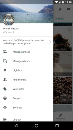 Androidアプリ「Foap - sell your photos」のスクリーンショット 3枚目