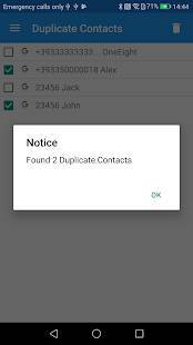 Androidアプリ「Duplicate Contacts」のスクリーンショット 1枚目