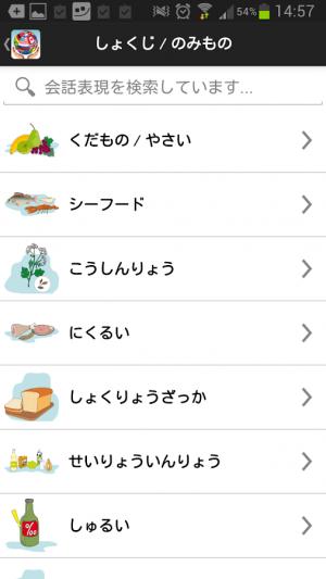 Androidアプリ「旅のことば ライト版」のスクリーンショット 4枚目