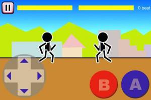 Androidアプリ「格闘ゲーム「木拳」:棒人間オンライン対戦の暇つぶしゲーム」のスクリーンショット 1枚目