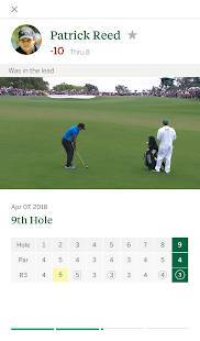 Androidアプリ「The Masters Golf Tournament」のスクリーンショット 3枚目