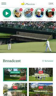 Androidアプリ「The Masters Golf Tournament」のスクリーンショット 2枚目
