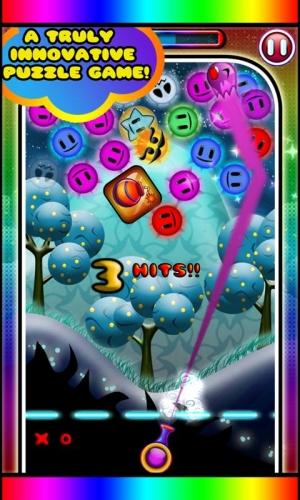 Androidアプリ「Rainbow Trail - Bubble Shoot」のスクリーンショット 1枚目