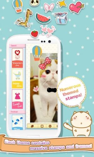 Androidアプリ「DECO+ ~かわいい写真加工~」のスクリーンショット 2枚目