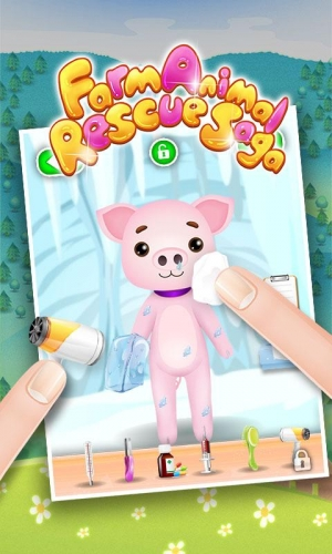 Androidアプリ「動物獣医 - 子供のゲーム」のスクリーンショット 1枚目