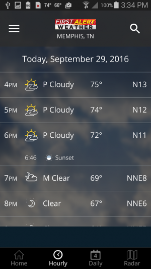 Androidアプリ「Action News 5 Memphis Weather」のスクリーンショット 3枚目