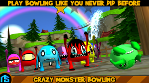 Androidアプリ「Crazy Monster Bowling」のスクリーンショット 1枚目