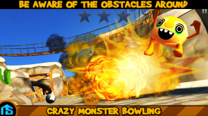 Androidアプリ「Crazy Monster Bowling」のスクリーンショット 2枚目