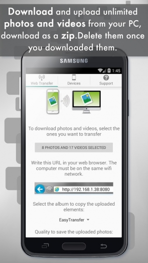 Androidアプリ「Easy Photo and Video Transfer」のスクリーンショット 1枚目
