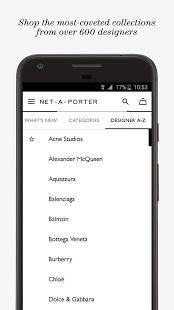 Androidアプリ「NET-A-PORTER」のスクリーンショット 5枚目