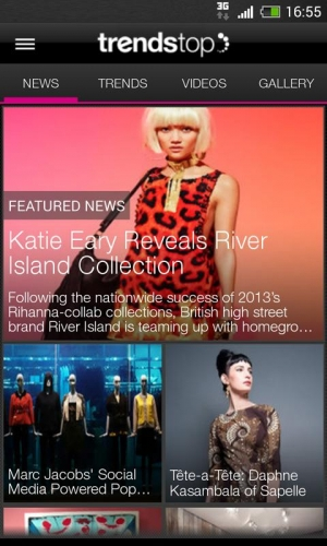 Androidアプリ「Trendstop Fashion TrendTracker」のスクリーンショット 2枚目