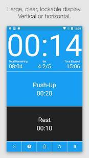 Androidアプリ「Seconds Pro - Interval Timer」のスクリーンショット 1枚目