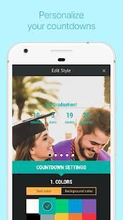 Androidアプリ「私の日 - カウントダウンカレンダー」のスクリーンショット 2枚目