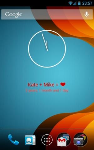 Androidアプリ「Love widget」のスクリーンショット 1枚目