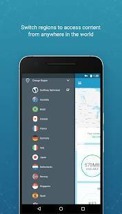 Androidアプリ「SurfEasyセキュア アンドロイドVPN」のスクリーンショット 1枚目