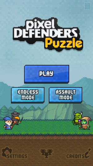 Androidアプリ「Pixel Defenders Puzzle」のスクリーンショット 1枚目