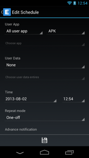 Androidアプリ「Ease Backup」のスクリーンショット 5枚目