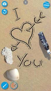 Androidアプリ「砂のドロー: 描く & スケッチアートワークビーチを作成」のスクリーンショット 1枚目