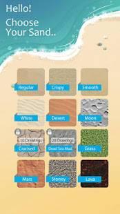 Androidアプリ「砂のドロー: 描く & スケッチアートワークビーチを作成」のスクリーンショット 2枚目