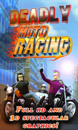 Androidアプリ「Deadly Moto Racing」のスクリーンショット 1枚目