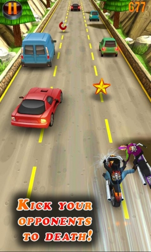 Androidアプリ「Deadly Moto Racing」のスクリーンショット 2枚目