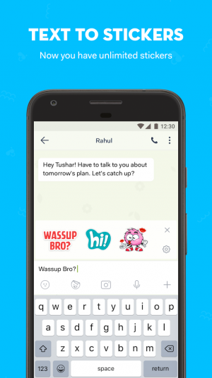 Androidアプリ「hike: Payments, Hide Chat, Stickers, Calling」のスクリーンショット 4枚目
