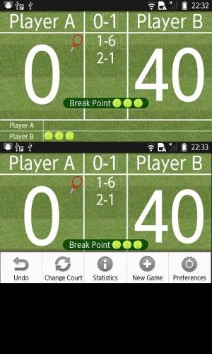 Androidアプリ「Love40(テニススコアボード)」のスクリーンショット 1枚目
