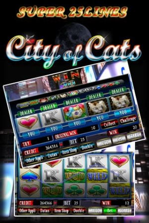 Androidアプリ「SUPER 25LINES CITY OF CATS」のスクリーンショット 1枚目