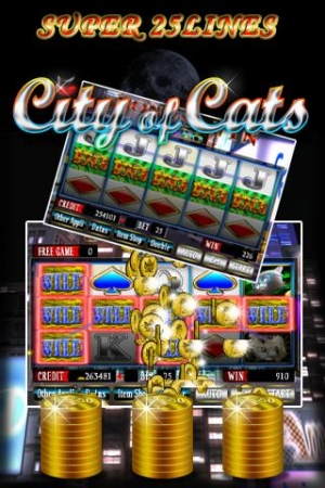 Androidアプリ「SUPER 25LINES CITY OF CATS」のスクリーンショット 3枚目