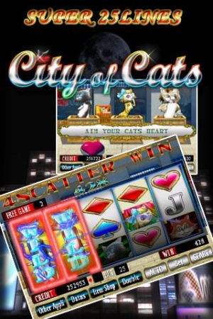 Androidアプリ「SUPER 25LINES CITY OF CATS」のスクリーンショット 2枚目