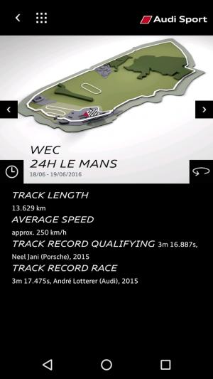 Androidアプリ「Audi Sport」のスクリーンショット 3枚目