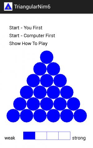 Androidアプリ「三角ニム-6」のスクリーンショット 1枚目