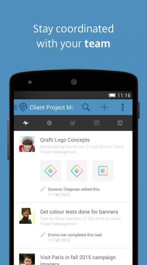 Androidアプリ「Podio」のスクリーンショット 1枚目
