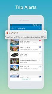 Androidアプリ「CheapOair: Cheap Flights, Cheap Hotels Booking App」のスクリーンショット 4枚目