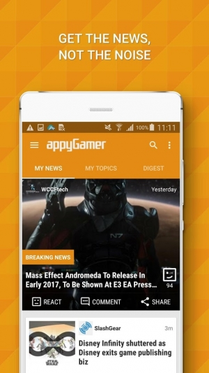 Androidアプリ「Appy Gamer – Games news」のスクリーンショット 4枚目