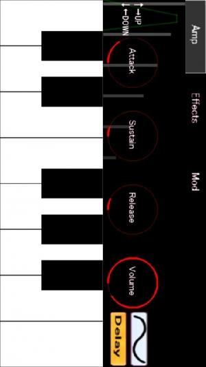 Androidアプリ「アナログシンセサイザーFree:キーボードピアノ楽器」のスクリーンショット 1枚目