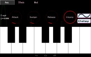 Androidアプリ「アナログシンセサイザーFree:キーボードピアノ楽器」のスクリーンショット 4枚目