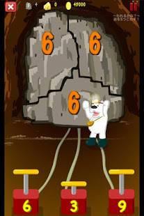 Androidアプリ「岩を爆破して金を探せ!金のわりざん for Kids」のスクリーンショット 3枚目