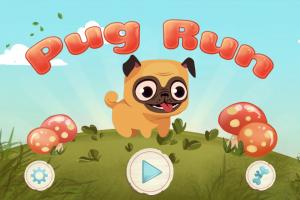 Androidアプリ「Pug Run」のスクリーンショット 1枚目
