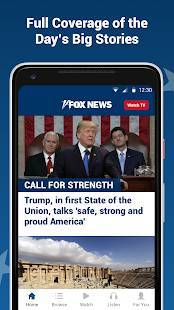 Androidアプリ「Fox News: Breaking News, Live Video & News Alerts」のスクリーンショット 1枚目