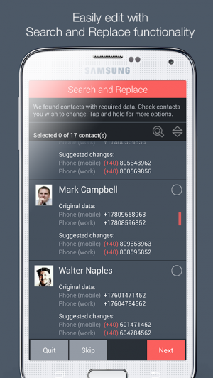 Androidアプリ「Contacts Optimizer」のスクリーンショット 5枚目
