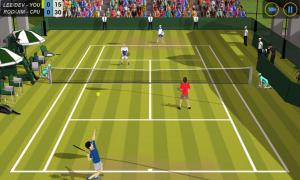 Androidアプリ「Flick Tennis」のスクリーンショット 1枚目