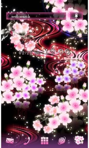 Androidアプリ「幻想壁紙 春夜桜」のスクリーンショット 1枚目