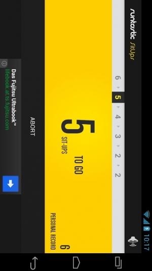 Androidアプリ「Runtastic Sit-Ups 腹筋回数カウントアプリ」のスクリーンショット 3枚目