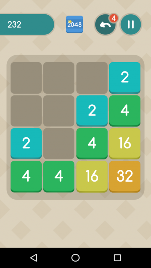 Androidアプリ「2048 EXTENDED + TV」のスクリーンショット 3枚目