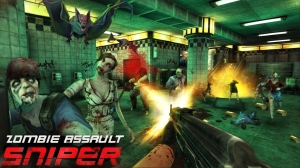 Androidアプリ「Zombie Assault:Sniper」のスクリーンショット 1枚目