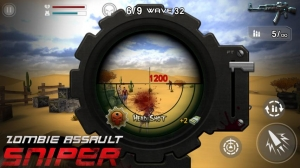 Androidアプリ「Zombie Assault:Sniper」のスクリーンショット 2枚目