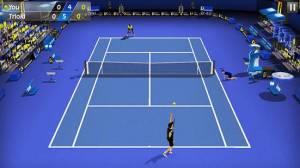 Androidアプリ「フリックテニス 3D - Tennis」のスクリーンショット 1枚目